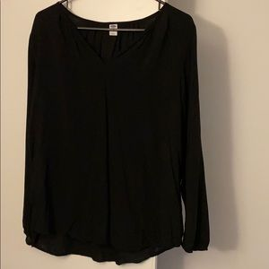 Women's black blouse with V neck!